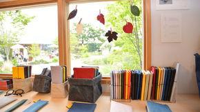市川三郷町の和紙を使った商品を販売
